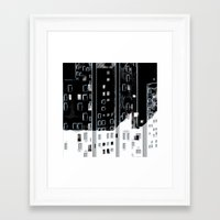 street Framed Art Prints featuring Street by Lynsey Ledray