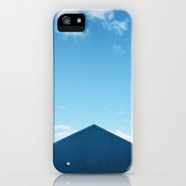 Blue Sky Over the Queensferry Marina Roof iPhone Case
