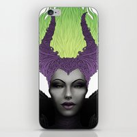 maleficent iPhone & iPod Skins featuring Maleficent by clayscence