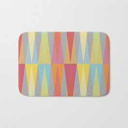 Party Argyle on Grey Bath Mat
