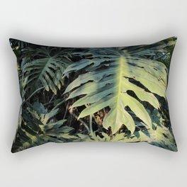 Monstera Leaf Love Rectangular Pillow