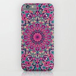 Beautiful Vintage Retro Bohemian Hippie Pink Mandala Design iPhone Case
