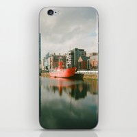 liverpool iPhone & iPod Skins featuring Dock - Liverpool by Ela Myller