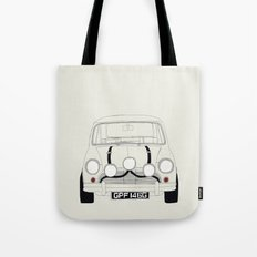 The Italian Job White Mini Cooper Tote Bag