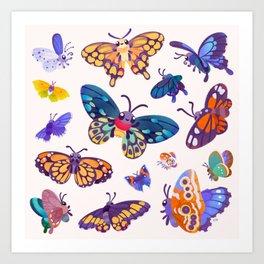 Butterflies Day - bright Art Print