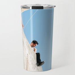 Holiday Blue Travel Mug