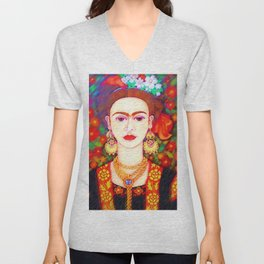 My other Frida Kahlo with butterflies Unisex V-Neck