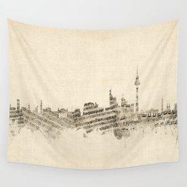 Berlin Germany Skyline Sheet Music Cityscape Wall Tapestry