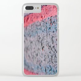 Pink Brick Clear iPhone Case