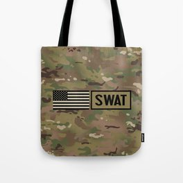 SWAT: Woodland Camouflage Tote Bag