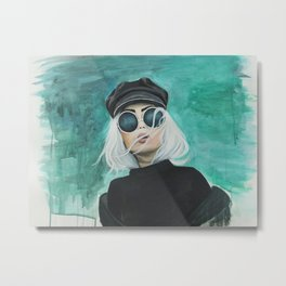 Mrs. Blue Metal Print