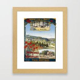 Ligne des Invalides a Versailles, French Travel Poster Framed Art Print