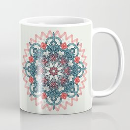 Coral & Teal Tangle Medallion Coffee Mug