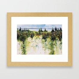 along Sainte Mary's Bay, Nova Scotia Framed Art Print