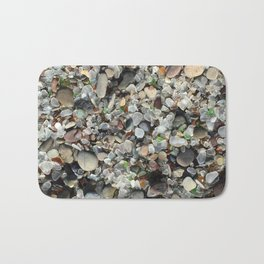 Sea glass beach in Fort Bragg Bath Mat
