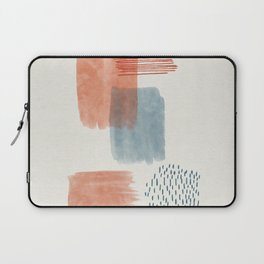 Abstract Watercolor Brush Lines Laptop Sleeve