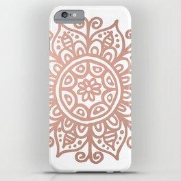 Rose Gold Floral Mandala iPhone Case