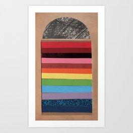 Rainbow Doorway - Collage 30 Art Print