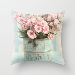 Roses for Everyone Throw Pillow