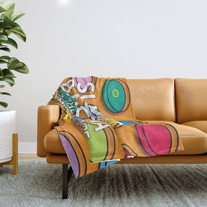 Support Bacteria Throw Blanket