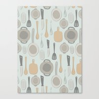kitchen Canvas Prints featuring kitchen by La Señora