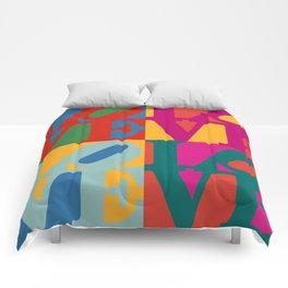 Love Pop Art Comforters