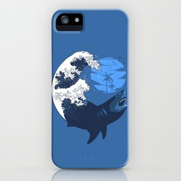 Wave megalodon iPhone Case