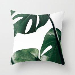 Monstera Leaf Print, Botanical Print, Botanical Art Throw Pillow