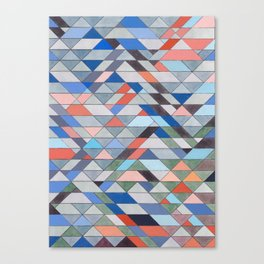 Triangle Pattern No. 7 Diagonals Canvas Print