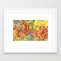 island Framed Art Prints featuring Vacation Island by Timothy J. Reynolds