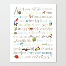 ABCs of Parenting - Woodland Canvas Print