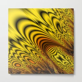 Fractal Filigree Metal Print