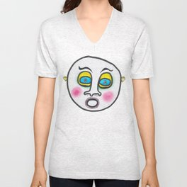 Blushing fool! Unisex V-Neck