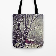 Out Behind The Barn  Tote Bag