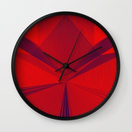 Geometric sexy art Wall Clock
