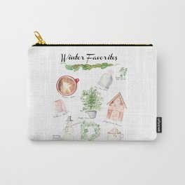 Winter Favorites in Watercolor Carry-All Pouch