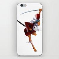 samurai iPhone & iPod Skins featuring Samurai by youcoucou