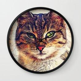 Cat Saba Wall Clock