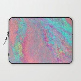 Light Pastel Acrylic Abstract Painting, Poseidon Laptop Sleeve