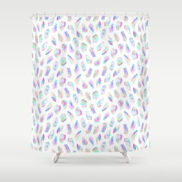 Aura Polygons Shower Curtain