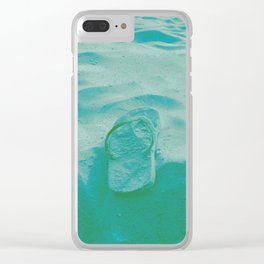 Thongs in the sand photo Clear iPhone Case