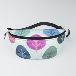 Watercolor Forest Pattern Fanny Pack