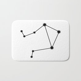 Libra Astrology Star Sign Minimal Bath Mat