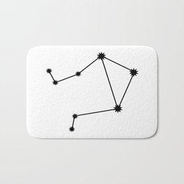 Libra Astrological Star Sign Minimal Bath Mat