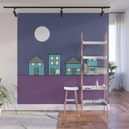 Dark Sky - Row of Houses Wall Mural