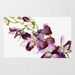 Radiant Orchids: Magenta Dendrobiums (Flipped Orientation) Rug