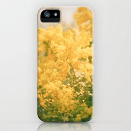 Puffs of Goldenrod iPhone Case