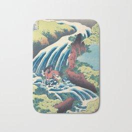 Katsushika Hokusai Horse and Waterfall Bath Mat