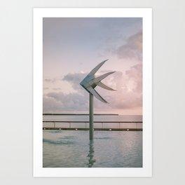 Cairns Woven Fish Sculpture (Single)   Cairns Australia Ocean Sunrise Travel Photography Art Print