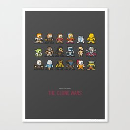 Mega Star Wars: The Clone Wars Canvas Print